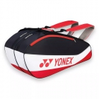Yonex Club 6-Pack Racquet Bag (Blk/Wht/Red) - 6 Racquet Tennis Bags