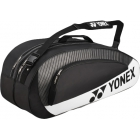Yonex Club 6-Pack Racquet Bag (Black/ White) - Yonex Tournament Basic Tennis Bags