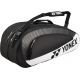 Yonex Club 6-Pack Racquet Bag (Black/ White) - New Tennis Bags