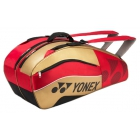 Yonex Tournament Active 6-Pack Racquet Bag (Red/Gold) - 6 Racquet Tennis Bags