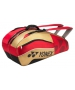 Yonex Tournament Active 6-Pack Racquet Bag (Red/Gold) - Tournament Active