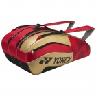 Yonex Pro Series 9-Pack Racquet Bag (Red/Black/Gold) - Tennis Racquet Bags