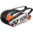 Yonex Pro 6-Pack Racquet Bag (White/ Orange) - Brands