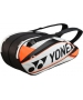 Yonex Pro 6-Pack Racquet Bag (White/ Orange) - Tennis Racquet Bags