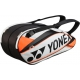 Yonex Pro 6-Pack Racquet Bag (White/ Orange) - New Tennis Bags