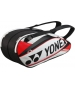 Yonex Pro 6-Pack Racquet Bag (White/ Red) - Tennis Racquet Bags