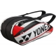 Yonex Pro 6-Pack Racquet Bag (White/ Red) - New Tennis Bags