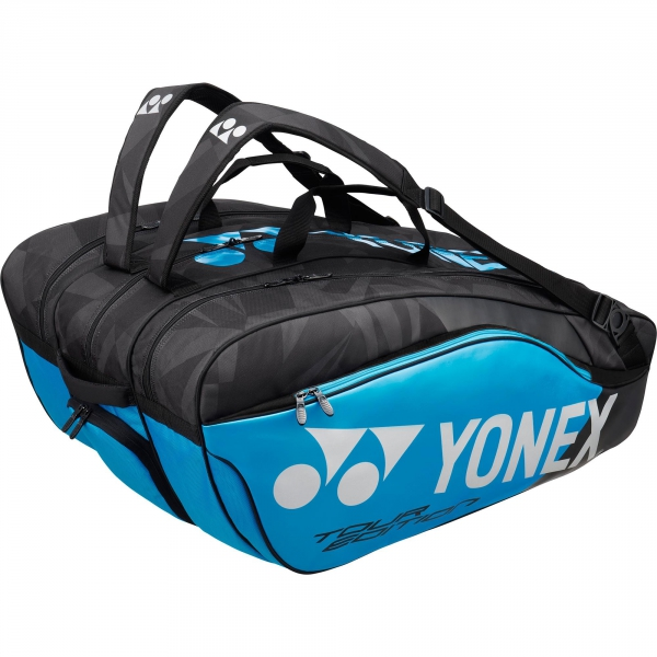 Yonex Pro Series 12-Pack Racquet Bag (Black/Infinite Blue)
