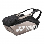 Yonex Pro Series 6-Pack Racquet Bag (Black/Platinum) - New Yonex Racquets, Bags, Shoes