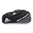 Adidas Barricade IV 6 Pack Tennis Bag (Black/ Silver) - Tennis Racquet Bags