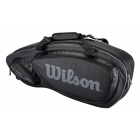 Wilson Tour V 3 Pack Tennis Bag (Black/Silver) - Wilson Tour Series Tennis Bags