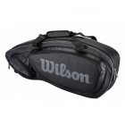 Wilson Tour V 3 Pack Tennis Bag (Black/Silver) - Tour Series