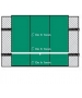 Bakko Economy Flat Series Backboard 10' x 12' - Tennis Backboards