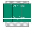 Bakko Economy Flat Series Backboard 8' x 12' - Tennis Equipment Types