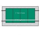 Bakko Economy Flat Series Backboard 8' x 16' - Shop the Best Selection of Tennis Backboards