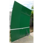 Bakko Single Curve Series Backboard 10' x 20' - Bakko Tennis Equipment