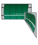 Bakko Single Curve Series Backboard 10' x 12' - Tennis Backboards