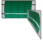 Bakko Single Curve Series Backboard 10' x 16' - Curved