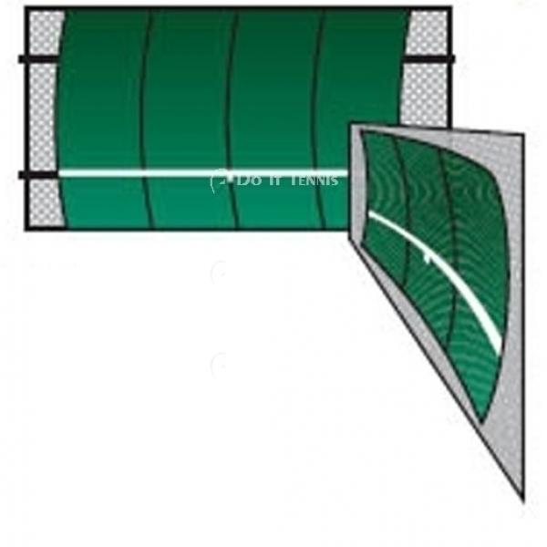 Bakko Single Curve Series Backboard 10' x 20'