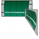 Bakko Single Curve Series Backboard 10' x 20' - Bakko
