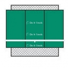 Bakko Slimline Flat Series Backboard 8' x 12' - Shop the Best Selection of Tennis Backboards