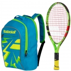 Babolat Ballfighter 17 Tennis Racquet, Blue Junior Tennis Backpack Bundle - Junior Bundle Packs