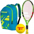 Babolat Ballfighter 17 Tennis Racquet, Red Foam Tennis Balls, Junior Backpack Bundle - Babolat Junior Tennis
