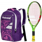 Babolat Ballfighter 17 Tennis Racquet, Purple Junior Tennis Backpack Bundle [copy] - Babolat Junior Tennis