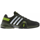 Adidas Men's Barricade 8 Tennis Shoes (Blk/ Wht/ Grn) - Men's Tennis Shoes