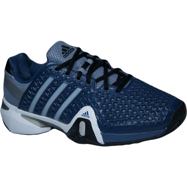 Adidas Men's Barricade 8+ Tennis Shoes (Blu/ Sil/ Blk)
