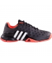 Adidas Men's Barricade 2015 Tennis Shoes (Black / Flash Red) - Tennis Shoes