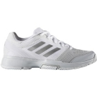 Adidas Women's Barricade Club Tennis Shoes (White/Silver/Pink) - Adidas Barricade Tennis Shoes