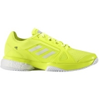Adidas Women's aSMC Barricade Boost 2017 Tennis Shoe (Yellow/White) - Adidas Barricade Tennis Shoes