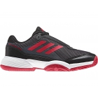 Adidas Barricade Club xJ Junior Tennis Shoe (Black/Scarlet/White) - New Tennis Shoes
