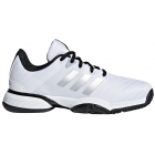 Adidas Barricade 2018 xJ Junior Tennis Shoe (White/Silver/Black) - New Tennis Shoes