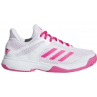 Adidas Junior Adizero Club Tennis Shoes (Shock Pink/White) - Adidas Junior Tennis