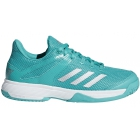 Adidas Junior Adizero Club Tennis Shoes (Aqua/Silver) - Junior Tennis Shoes