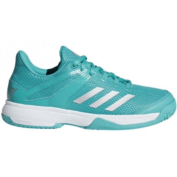 Adidas Junior Adizero Club Tennis Shoes (Aqua/Silver)
