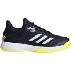 Adidas Junior Adizero Club Tennis Shoes (Legend Ink/Shock Yellow) - New Tennis Shoes