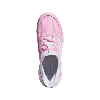 Adidas Junior Adizero Club Tennis Shoes (True Pink/White)
