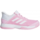 Adidas Junior Adizero Club Tennis Shoes (True Pink/White) - Adidas Junior Tennis