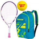 Babolat B'Fly, Blue Backpack, Red Foam Balls - Junior Tennis Racquet + Bag + Ball Bundles