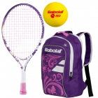 Babolat B'Fly, Purple Backpack, Red Foam Balls - Babolat Junior Tennis Racquet & Bag Bundles