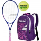Babolat B'Fly, Purple Backpack, Green Balls Bundle - Babolat Junior Tennis Racquet & Bag Bundles