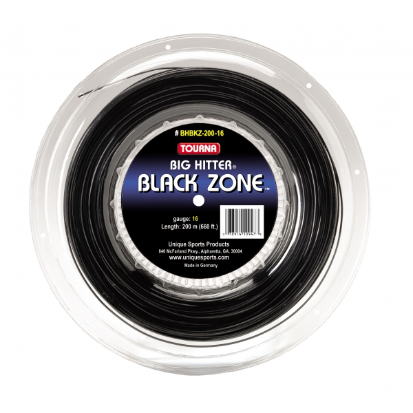 Tourna Big Hitter Black Zone 17g Tennis String (Reel)