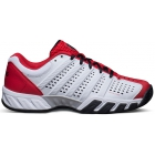 K-Swiss Men's Bigshot Light 2.5 Tennis Shoe (White/ Red/ Black) - Men's Tennis Shoes