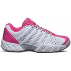 K-Swiss Women's Bigshot Light 2.5 Tennis Shoes (White/ Shocking Pink) - K-Swiss