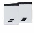 Babolat Jumbo Wristband (White/Rabbit) - Babolat Headbands & Wristbands