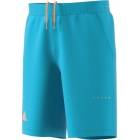 Adidas Men's Barricade Bermuda Short (Samba Blue/Glow Orange) - Adidas Men's Tennis Apparel