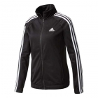 Adidas Women's Designed 2 Move Tennis Warmup Jacket (Black/White) - Adidas Women's Tennis Dresses, Jackets & Pants